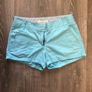 J Crew Chino blue shorts size 00